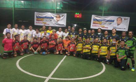Unik ! Silaturahmi Warga Perum Griya Bukit Pelangi Dengan Kasmidi Bulang di Lapangan Futsal