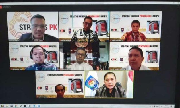 KPK gelar Webinar Penguatan Pelaksanaan dan Komunikasi aksi Stranas PK bagi Inspektorat dan Diskominfo Pemda Seluruh Indonesia