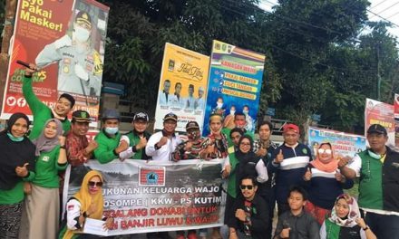KKW-PATTIROSOMPE  Kutai Timur salurkan bantuan untuk korban banjir di Wajo