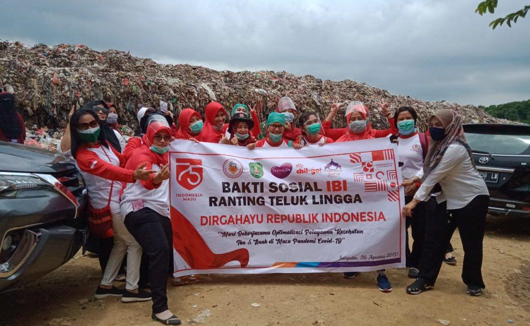 Pencegahan Stunting Ikatan Bidan Indonesia (IBI) Ranting Teluk Lingga Bakti Sosial di Area Pembuangan Sampah Batota