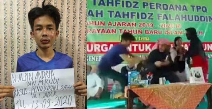 Alpin Adrian, Pelaku Penusukan Syekh Ali Jaber Jadi Tersangka