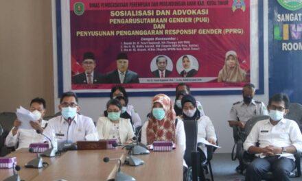 Pjs. Bupati Kutim M. Jauhar Effendi Buka Sosialisasi Dan Advokasi Pengarusutamaan Gender dan Penyusunan Penganggaran Responsif Gender