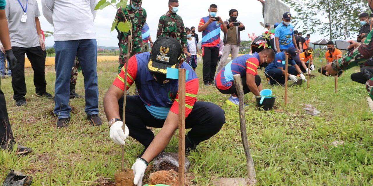 Giat Peringatan HPN 2021Kutim, Tanam Pohon dan Pembagian Susu Murni