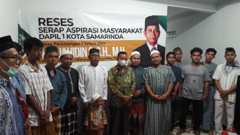 Jahidin Serap Aspirasi Masyarakat Sungai Pinang Dalam