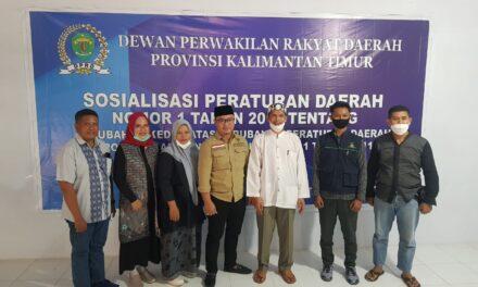 M. Nasiruddin Gelar Sosper Pajak Daerah di Sangatta