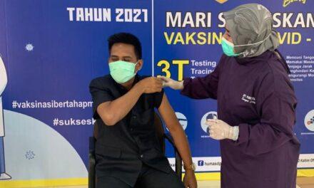 Lakukan Vaksinasi Tahap Dua, Sutomo Berkomitmen Tetap Jaga Prokes