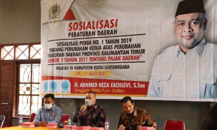Maksimalkan PAD Kaltim, Akhmed Reza Pahlevi Sosialisasikan Perda Pajak Daerah