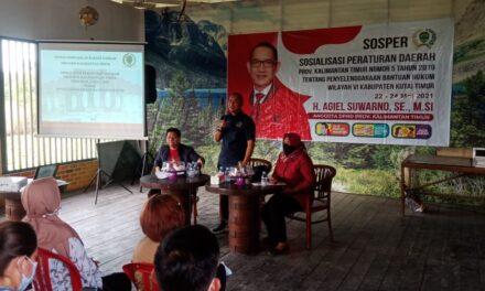 Sasar Ketua RT Di Desa Sangatta Utara, H. Agiel Suwarno Sosialisasikan Perda No 5 tahun 2019