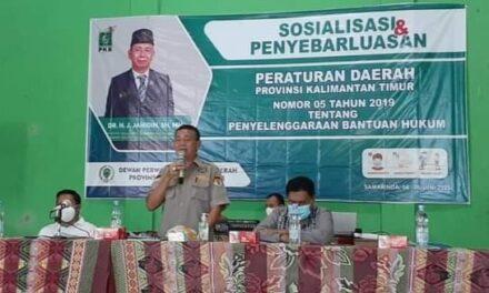 Jahidin Sosper Penyelenggaraan Bantuan Hukum di Sungai Kapih