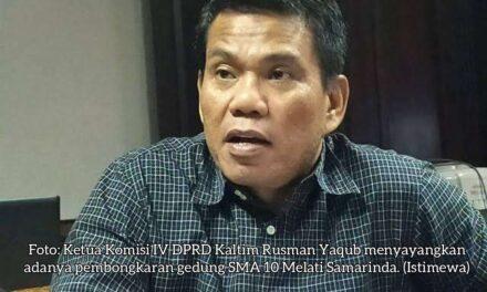 Komisi IV DPRD Kaltim Merasa Miris dengan Upaya Pembongkaran Gedung SMA 10 Melati Samarinda
