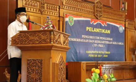 Bupati Lantik Pengurus TP PKK Kutim Periode 2021-2026