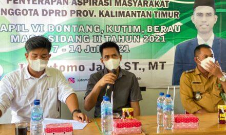 Sutomo Serap Aspirasi di Biatan Ilir Kabupaten Berau