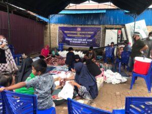 Panitia Qurban KKW-PS Kutim saat pelaksanaan ibadah qurban, rabu (21/07/2021)