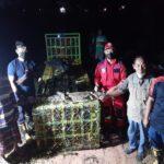 Tim Rescue DPKP Kutim Evakuasi Buaya Sepanjang 1.6 Meter