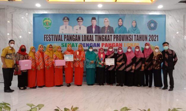 DKP dan TP PKK Kutim Bawa Pulang 2 Penghargaan, pada Ajang Festival Pangan Lokal Kaltim